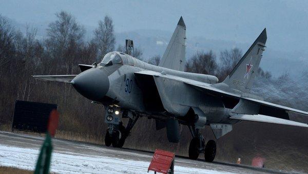 Истребитель МиГ-31 во время летно-тактических учений. Архивное фото