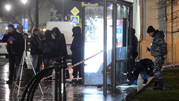 На улице Покровка в центре Москвы после взрыва гранаты