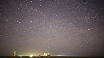 Фотография метеорита. Архивное фото