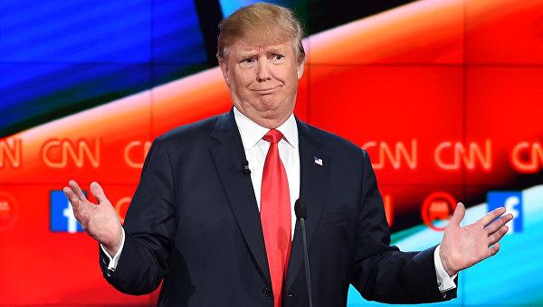 Кандидат в президенты США от Республиканской партии Дональд Трамп во время предвыборных теледебатов на телеканале CNN. Архивное фото