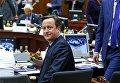 Премьер-министр Великобритании Дэвид Кэмерон на саммите лидеров ЕС в Брюсселе