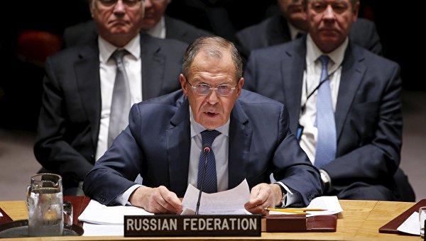 Глава МИД РФ Сергей Лавров на заседании Совбеза ООН по Сирии в Нью-Йорке