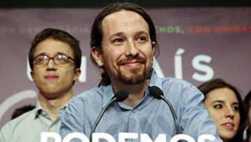 Лидер испанской партии Podemos Пабло Иглесиас