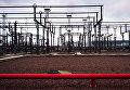 """Провода, изоляторы, трансформаторы электроподстанции """"Парнас"""" напряжением 330 КВт в Санкт-Петербурге"""