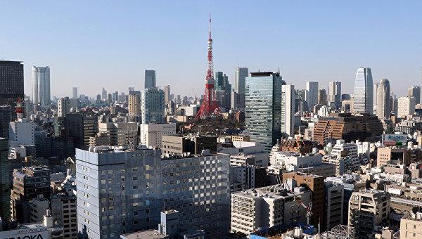 Вид на Токио, Япония. 2015 год