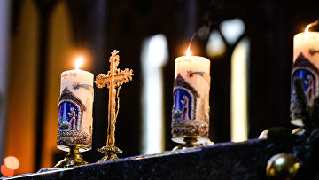 Празднование католического Рождества в Москве. Архивное фото