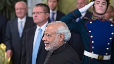 Премьер-министр Индии Нарендра Моди во время официальной встречи в Кремле