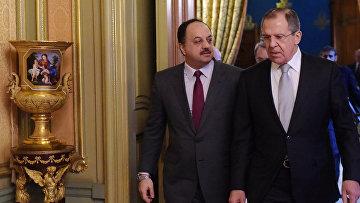 Министр иностранных дел России Сергей Лавров встретился с министром иностранных дел Катара Халедом Бен Мухаммеда Аль-Атыйи