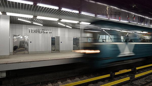 Поезд Московского метрополитена. Архивное фото