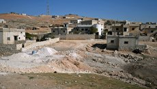 Здания в селе в южном пригороде сирийского города Алеппо
