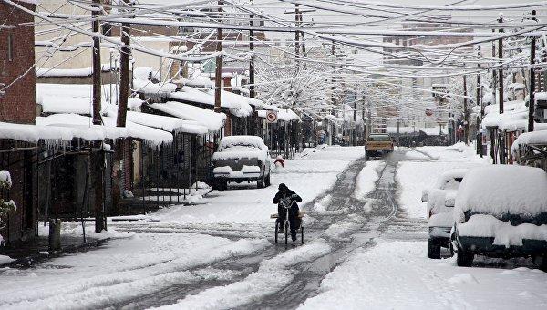 Аномально снежная погода в Чиуауа. Мексика