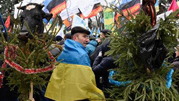 Митинг у здания Верховной Рады Украины. Архивное фото