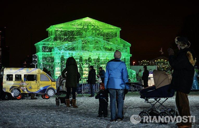 Открытие фестиваля Ледовая Москва. В кругу семьи в парке Победы на Поклонной горе