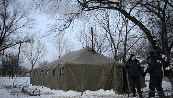 Работа мобильных пунктов обогрева в Донецкой области. Архивное фото