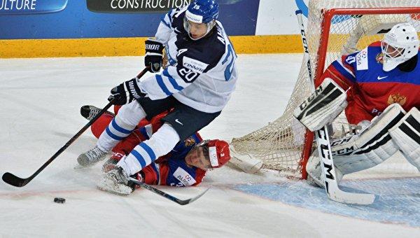 Хоккей. Молодежный чемпионат мира. Матч Россия - Финляндия
