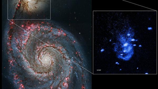 Ученые увидели отрыжку ближайшей к Земле колоссальной черной дыры
