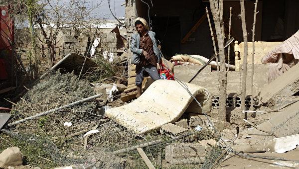 Последствия по столице Йемена Сане