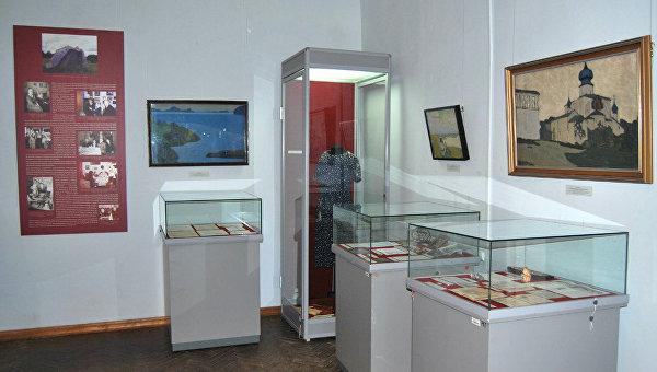 Экспозиция Музея-института семьи Рерихов в Санкт-Петербурге. Архивное фото