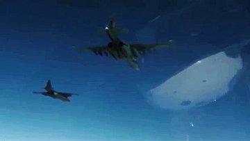 Боевая работа российских Су-25 с АвБ Хмеймим в сопровождении сирийских МиГ-29. Архивное фото