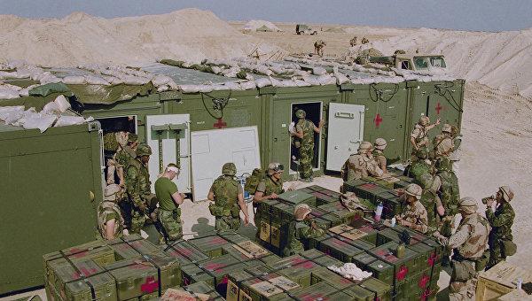 Начало операции Буря в пустыне, установка полевого госпиталя