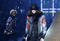 Модель представляет коллекцию Philipp Plein на неделе моды в Милане