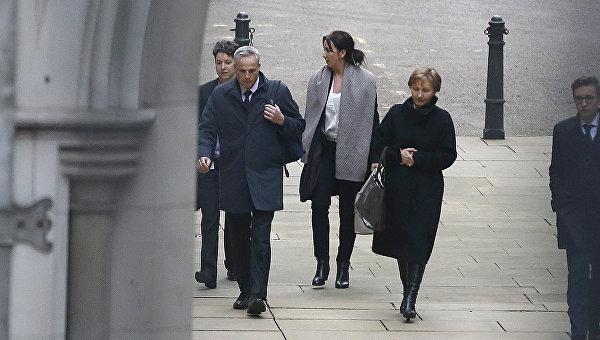 Жена Александра Литвиненко Марина возле здания суда в Лондоне 21 января 2016