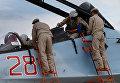 """Российские военные на авиабазе """"Хмеймим"""" в Сирии"""
