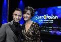 Монс Зелмерлев и Петра Меде, ведущие Евровидения 2016 в Стокгольме