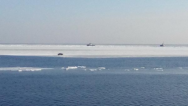 Отрыв льда в Ванинском районе Хабаровского края