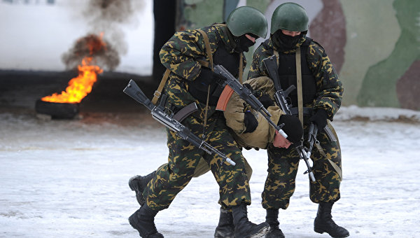 Военнослужащие внутренних войск МВД России. Архивное фото