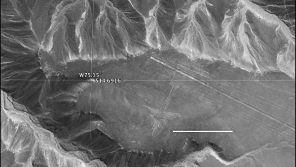 Петроглифы НАСКА, снимок с радара НАСА