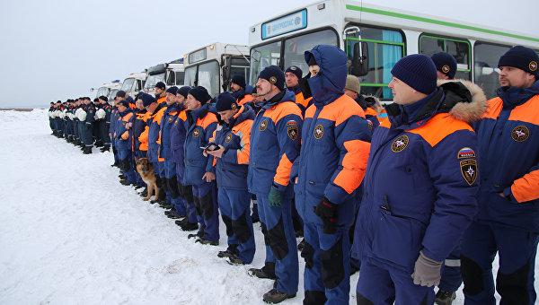 МЧС России проводит тренировку аэромобильной группировки по реагированию на чрезвычайные ситуации