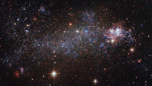 Галактика NGC 5408 в созвездии Центавра