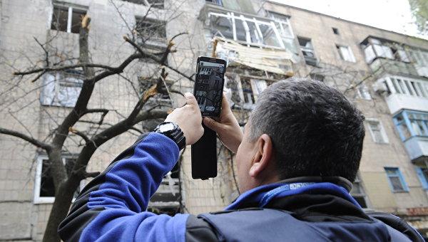Последствия обстрелов в Донецке