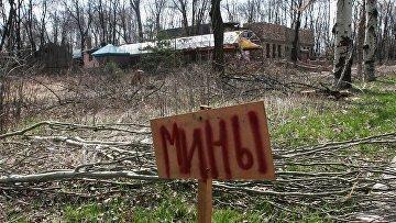 Представители ОБСЕ посетили район поселка Пески в Донецкой области. Архивное фото