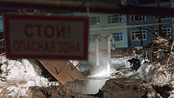 Место гибели трех школьников у теплотрассы в Петропавловске-Камчатском.