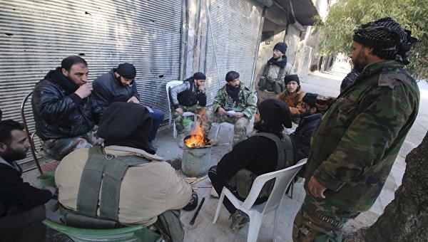 Боевики в Алеппо