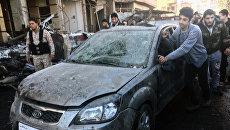 Последствия двойного теракта в шиитском квартале Саида Зайнаб в Дамаске