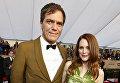 Американский актер Майкл Шэннон и американская актриса Джулианна Мур. 22-я церемония вручения премии Гильдии киноактёров США. Январь 2016