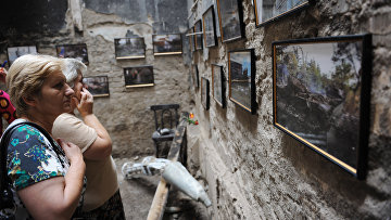 На открытии музея геноцида, посвященного трагическим событиям августа 2008 года в Южной Осетии