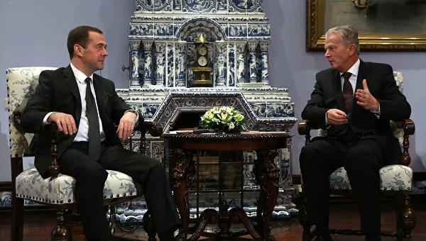 Премьер-министр РФ Д. Медведев встретился с вице-канцлером Австрии Р. Миттерленером