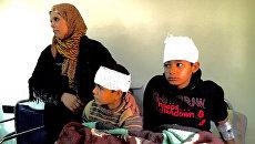 Дети, пострадавшие в результате обстрелов террористами в больнице. Архивное фото