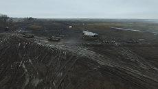 Тактические военные учения под Донецком. Съемка с воздуха