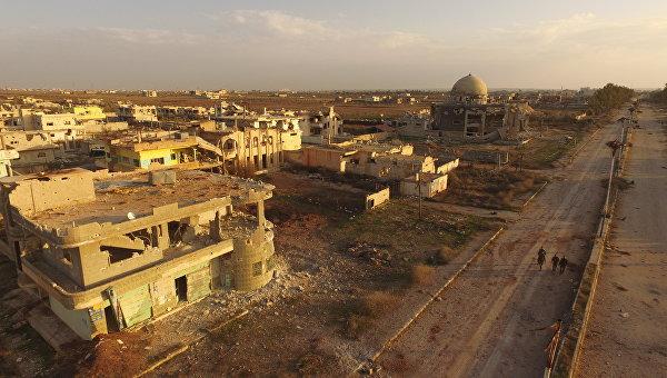 Освобожденный от террористов населенный пункт Осман, юг Сирии. Архивное фото