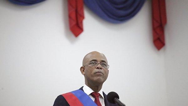 Президент Гаити Мишель Мартелли покидает пост, 7 февраля 2016
