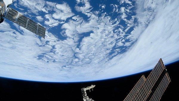 Атлантический океан снятый с Международной космической станции. Архивное фото