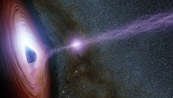 Изображение черной звезды художником