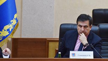 Грузинский и украинский государственный и политический деятель Михаил Саакашвили. Архивное фото