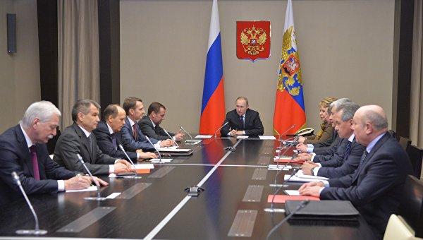 Президент РФ В. Путин провел заседание Совбеза РФ. 11 февраля 2016