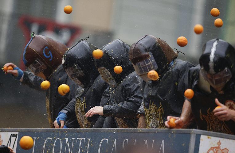 Битва на апельсинах в Италии